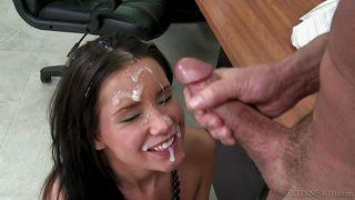 Tanner Gets Teacher's Cum On Her Face  Peter North Is The Nasty Teacher, Scene #01
