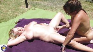 Mature Lesbians Are Having Fun In The Sun