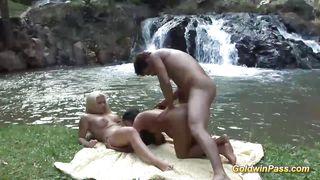 Brazilian Threesome In Nature