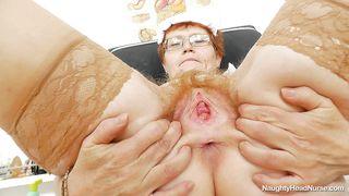 Solo And Horny Granny Nurse