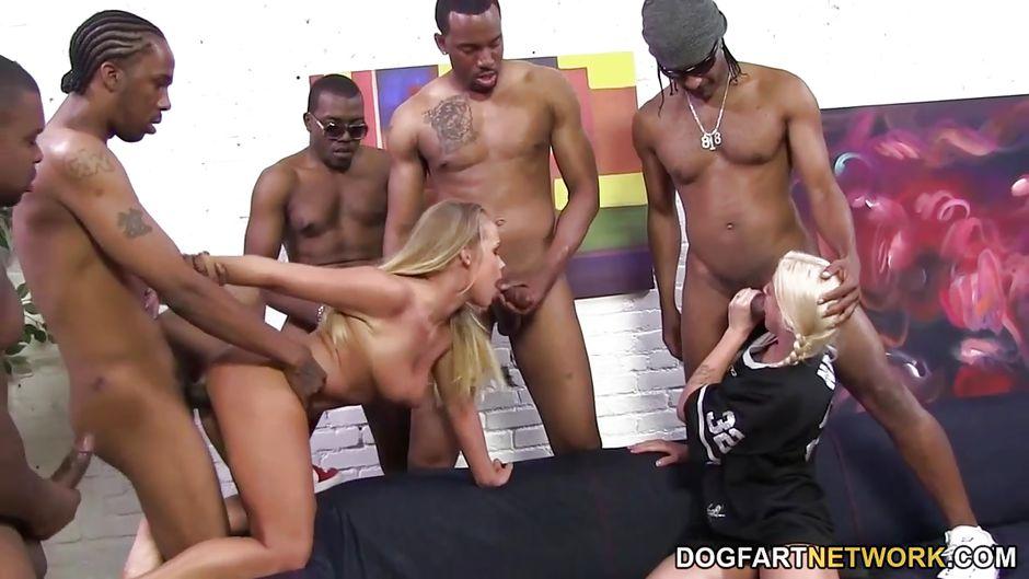 Interracial Gangbangs Dogfart Network-pic3762