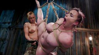 Incredible Rope Bondage For Bella Rossi