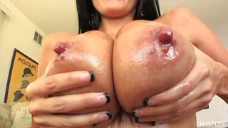 Ava Plays With Her Big Tits