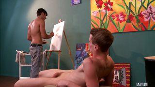 Horny Painter Seduces His Model