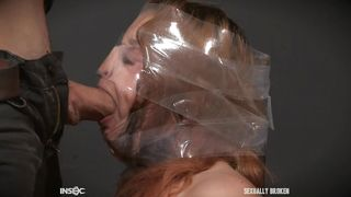Wrapped In Plastic And Face Fucked