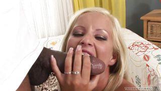 Blonde Babe Sucks A Big Black Cock  Hairy Teen Pussy #06