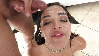 Sexy Teen Gets Sticky Cum On Her Face