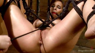 Blonde Mistress Hangs And Whips Her Slut