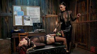 Asian Tranny Tortures Her Ebony Lover