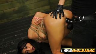 Bound Slave Is Brought To Orgasm