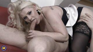 Busty Blonde Milf Enjoys 69 Position