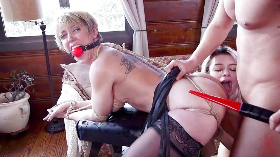 Lesbian Bondage Anal Hook