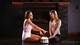 Cute Kristen Celebrates Her Birthday With Sexy Bff Kimmy