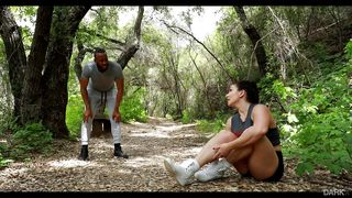A Run Through The Woods Leads To Hot Interracial Sex