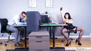 Naughty America-Teasing And Seducing The Most Handsome Guy In Our Office PornZek.Com