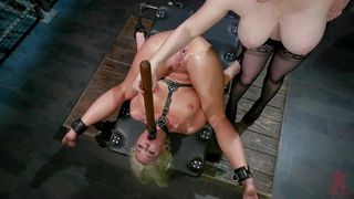 Busty Lesbians Lick Pussies And Try Bdsm