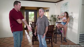 She Teases A Horny Contractor Behind Her Dad's Back