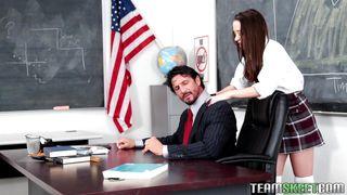 Lusty Nikki Seduces A Horny Teacher
