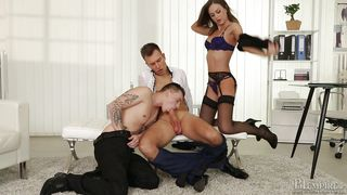 Horny Bisexual Dudes Suck Each Other Off  Bi Office #02