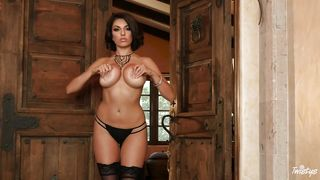 Busty Brunette Loves Playing With Her Dildo