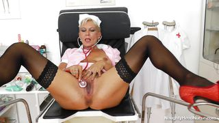 Naughty Nurse Slut Plays With Her Cunt Alone