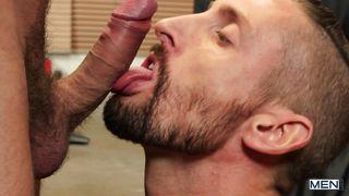 British Gays Enjoy Sensual Deepthroat Blowjob