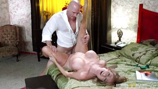 Busty Milf Gets Banged In Bed