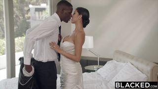 Interracial Couple Celebrating Their Wedding