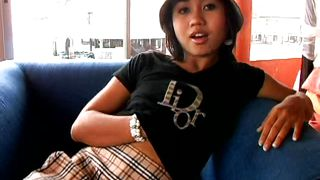 Asian Girl On A Solo Teasing Act