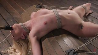 Tied Up Blonde Babe Gets Punished Hard