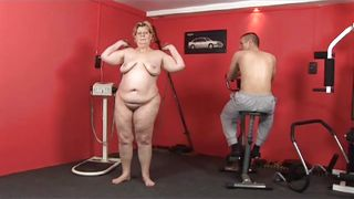 Bbw Forever-Fat Mature Lady And Trainer Humping In The Gym PornZek.Com