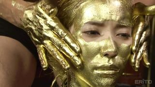 body paint tits Gold