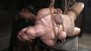 Brutally Tied And Suspended