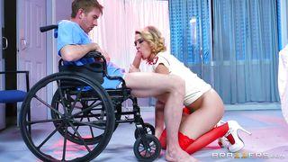 Horny Nurse Blows Patient's Dick
