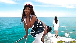 Ebony Goddess Sucks A Fat Cock