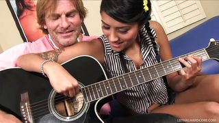 He Teaches His Stepdaughter To Play Guitar