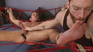 Bound Gay Slave Gets Wanked And Sucked Off By His Master