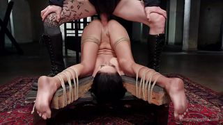 Bound Slave Is Fucked Hard And Whipped