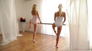 Nubiles Porn-Two Flexible Ballerinas Fucked Hard After Practice PornZek.Com