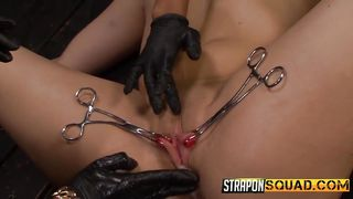 Helpless Bitch Tied By Two Mean Mistresses