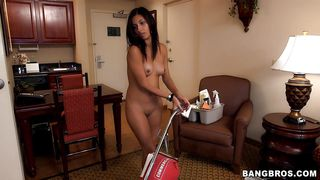 Maid Gets Extra Money For Working Nude