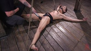 Tortured In Web Of Ropes