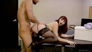 Redhead Seductress  Big Tits Office Chicks #04