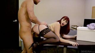 Redhead Seductress  Big Tits Office Chicks #04