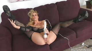 Cherry Pimps-Naughty Milf Cherie Deville Fucks Herself Silly With Vibrator PornZek.Com