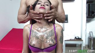 Hot Tattooed Latina Takes Her Clothes Off