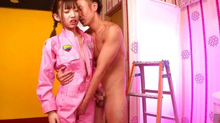 Cute Japanese Babe Rips Open Her Jumpsuit To Get Fucked Hard