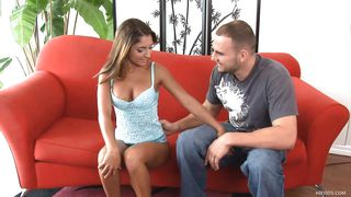 Nicole Gets A Nice Cock To Suck On