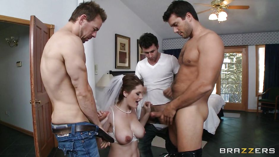 Bride wedding gangbang