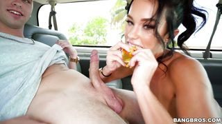 Megan Rain Takes Spunk In The Bang Bus